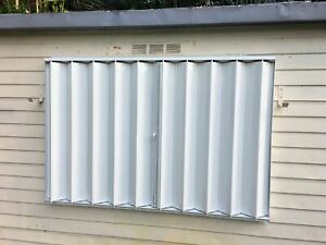 38X51 DIY Hurricane Accordion Shutters - Do it yourself and save a lot of $$$!