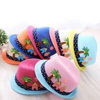 Summer Baby Hat Fashion Children Cap Girls Boy Sun Hat Beach Cap Straw Hats Jazz