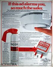 'DICON' Smoke Detectors, Fire Extinguishers & Fire Cloths Advert - 1981 Print AD