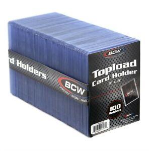 """BCW Topload Card Holder Standard Size 100 Ct Toploader (3"""" x 4"""")"""