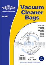 5 x DIRT DEVIL Hand Held Vacuum Cleaner Bags, G Type - HANDY 150, DD150, DD150T