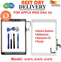 For iPad 5 Air 1 A1474 A1475 A1476 White Touch Screen Replacement Digitizer Tool