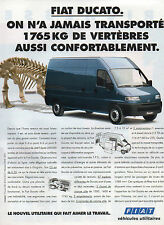 Publicité Advertising 1994   FIAT DUCATO  véhicules utilitaires