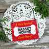DecoWords Mini Sign SPOILED Basset Hound Dog Decor Gift Wood Ornament USA New!
