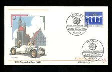 Postal History Germany Fdc #1415-1416 Set Of 2 Europa viaduct water auto 1984