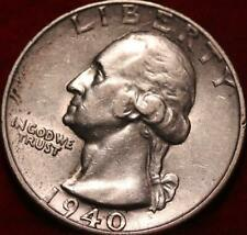 1940-S San Francisco Mint Silver Washington Quarter