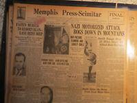 KKK History Newspaper 1940 WIZARD UNMASKED + NIGHT RIDERS CREED ATLANTA + WWII