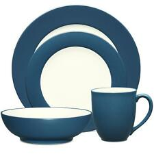 Noritake Colorwave Blue Rim 48Pc Dinnerware Set, Service for 12