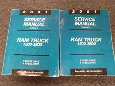 2001 Dodge Ram 2500 3500 Diesel Pickup Truck Shop Service Repair Manual 5.9L