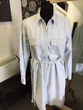 Gap Stripped Shirt Dress With Belt Size M