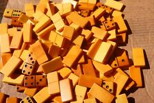 Genuine BAKELITE  USA 1950's  yellow 50mmx25mmx9mm unfinished dominoes 300 gr