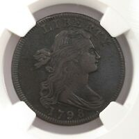 1798 Draped Bust Rev 95 1st Hair 1C S-155 NGC Certified XF Details Obv Damage