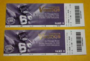 Minnesota Vikings Ticket Stub | November 30 2008 | Adrian Peterson TD