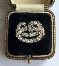 An Unusual 2ct Old Mine Cut Diamond Cluster Ring Circa 1800's