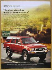 1990 Toyota 4Runner 4WD SR5 V6 4-runner truck photo vintage print Ad