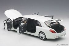 Autoart 2016 MERCEDES BENZ MAYBACH S 600 PULLMAN WHITE 1/18 Scale New In Stock!
