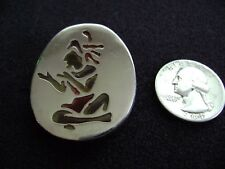 Vintage Taxco Mexico Sterling Silver Mexican Warrior Pin