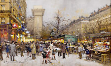 Eugene Galien Laloue Paris Porte Saint Denis   France French Wall Art  Canvas