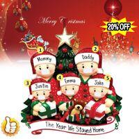 2020 Xmas Christmas Tree DIY Hanging Ornaments Family Ornament Santa Claus Decor