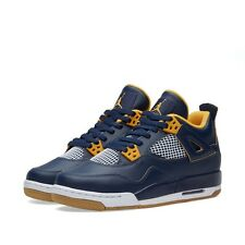 Air Jordan 4 IV Retro BG (GS) 'Dunk From Above' Navy Gold White 408452-425