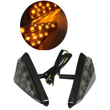 2pcs Dirt bike Flush Mount LED Triangle Turn Signal Light Blinkers Motorcycle