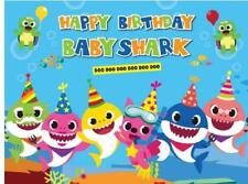 7X5Ft Under Sea Baby Shark Baby Shower Newborn backdrop birthday background