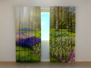 3D Curtain Printed Netherlands Spring hyacinth park by Wellmira Made to Measure
