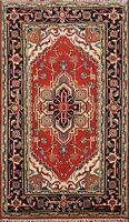 Decorative Geometric Heriz Serapi Oriental Area Rug Wool Hand-Knotted 3x5 ft