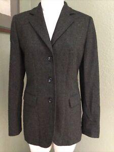 Vestimenta Spa Italy Pure SOFT 100% Cashmere OLIVE BLACK Blazer S Womens Jacket