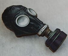 Vintage Style Gas Mask Brooch or Scarf Pin Accessories Fashion Jewelry Wood New