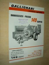 Prospectus Presse GALLIGNANI 149 Tracteur Trattori Traktor Brochure Prospekt