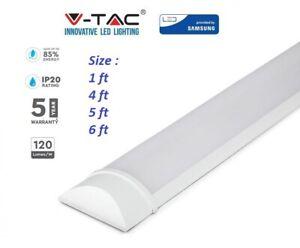 LED Batten Slimline Wall Ceiling Mount Tube Light 1ft 2ft 4ft 5ft 6f White 6400k