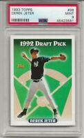 1993 TOPPS #98 DEREK JETER, PSA 9 MINT, RC ROOKIE, HOF, NEW YORK YANKEES, L@@K !