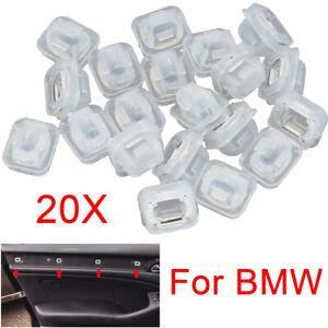 20x Insert Door Trim Strip Moulding Clips Grommets For BMW E46 E90 E91 E92 E93
