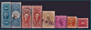 USA > US revenue stamps / Lot timbres fiscaux des Etats-Unis