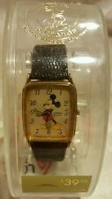 Lorus  Mickey Mouse Wrist Watch Disney Brown Band Gold Mickey RMF258