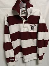 Vintage 1990s west side rowing club Rugby Shirt Hooded Buffalo Ny Historic 716