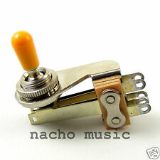 """Switchcraft 3-Way Right Angle """"L-Type"""" Toggle w/ Genuine Switchcraft Amber Tip"""