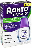 Rohto Dry Aid Dry Eye Relief Lubricant Eye Drops 0.34 oz (Pack of 6)