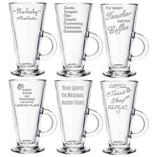 Personalised Engraved Latte Coffee Glass End of Term Gifts 2017 Head Teacher