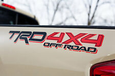 2 x TRD 4x4 OFF ROAD DECALS Toyota Tacoma Tundra Vehicle Vinyl Stickers Graphics