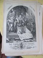 Vintage Print,POWER OF THRONE,Harpers,Nast,1870