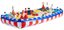 """RED WHITE BLUE INFLATABLE SALAD BAR BUFFET BEER DRINK COOLER 54"""" X 24"""" LUAU ETC"""