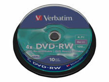 Verbatim Dvd-rw 4.7gb 10pk Spindle 4x 43552