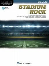 Stadium Rock for Cello Instrumental Play-Along Book and Audio New 000323889