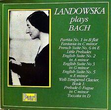 WANDA LANDOWSKA PLAYS BACH GERMANY IMPORT 35-TRACK 1996 CD