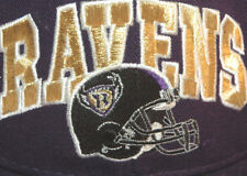 Vtg Rare BALTIMORE RAVENS Old Helmet Logo Baseball Hat CAP Football SNAPBACK USA