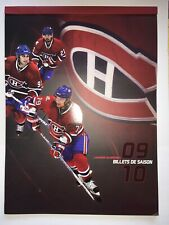 NHL Montreal Canadiens 2009-2010 Season Ticket Folder (With 3 Tickets)