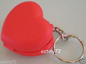 TUPPERWARE LOVE HEART KEYCHAIN / KEY RING RED NEW RARE