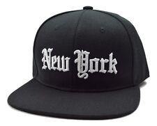 New York City Black Flat Bill NYC Snapback Cap Hat